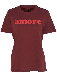 Amore t-shirt - Vinröd XS