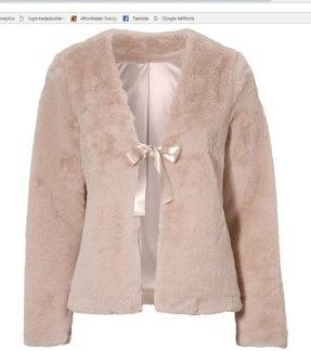 Desiree fur jacket - Rose XS