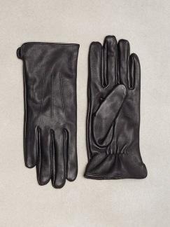 Läder handskar - S