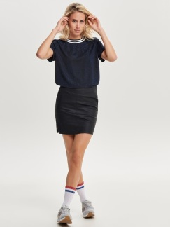 BASE FAUX LEATHER SKIRT - 36