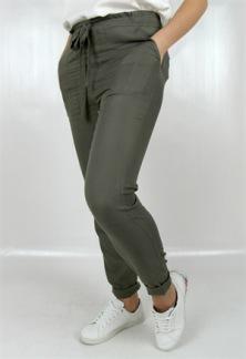 TRICIA PANTS - Khaki green XS