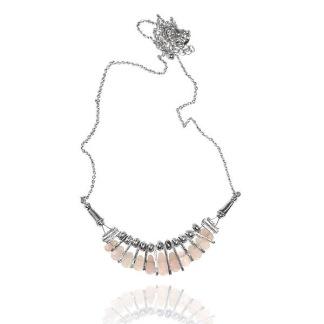 Rosenkvarts halsband -