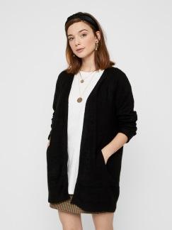 Ellen long knit cardigan - Svart XS