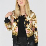 VANNA JACKET BLACK/GOLD/SMOKY ROSE