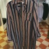 Randig skjortklänning - Bredrandig L