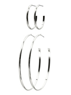 HANNA CREOL 2-PACK EARRING - Silver