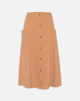 Kjol med fickor - Camel XS