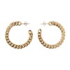 Jennifer hoop earrings - Guld