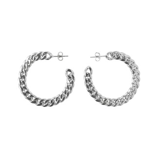 Jennifer hoop earrings - Silver