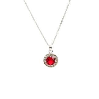 Halsband med röd sten -