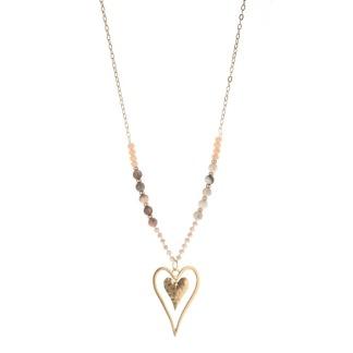 Långt halsband hjärta -