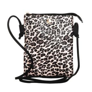 Väska leoprint - Rosa