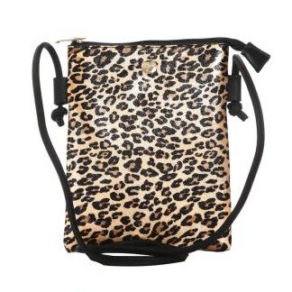 Handväska leoprint - Guld