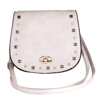 Väska med nitar - Ljusrosa