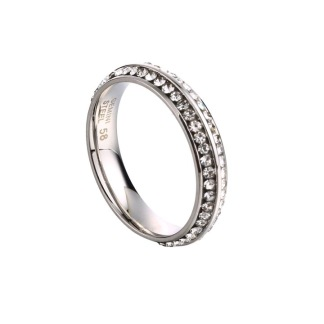 Ring med strass - Silver 54