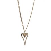 Långt halsband med hjärta