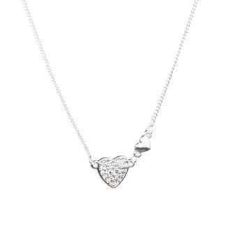 Kort halsband med hjärta -
