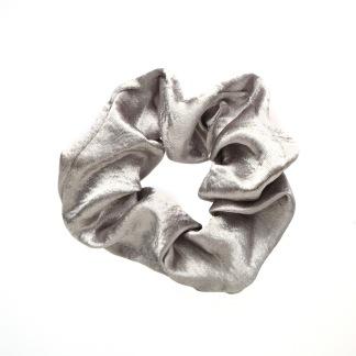 Hårsnodd Scrunchie - Silver