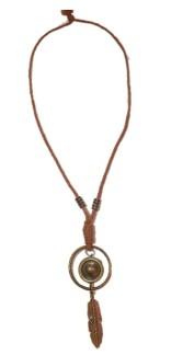Långt brunt halsband -