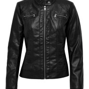 BANDIT FAUX LEATHER BIKER JACKET