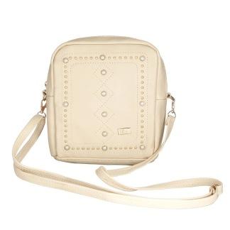 Handväska med detaljer - Creme