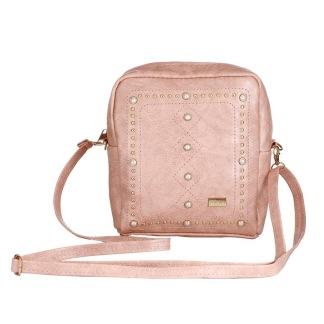 Handväska med detaljer - Rosa