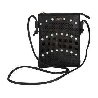 Handväska med pärlor - Svart