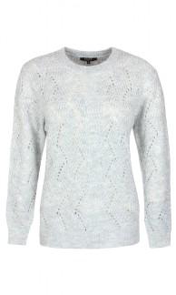 Stickad tröja-Bade - Grå XL