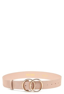 Skärp med ringar - Beige XS/S