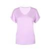 T-shirt med v-ringning - Rosa XXL