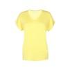 T-shirt med v-ringning - Gul XXL