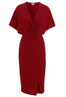 Glittrande klänning - Röd 34