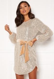 Paljettklänning - Champagne / Silver 34