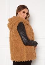 Fur Vest Camel