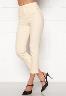 High Waist Stretch Jeans Cream - 34