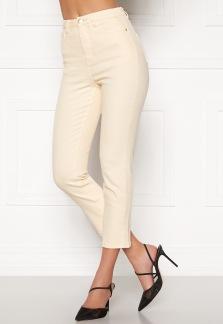 High Waist Stretch Jeans - Cream 34