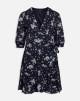 Blommig klänning - L