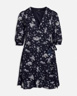 Blommig klänning - XS