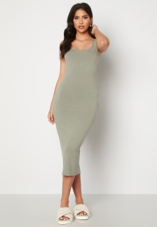 Marina Rib Dress - Grön L