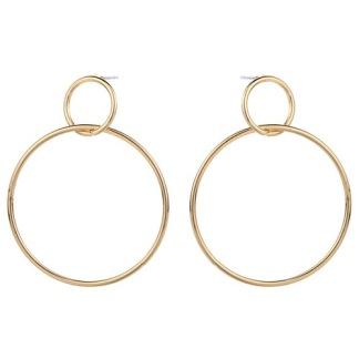 Örhängen dubbla ringar - Guld