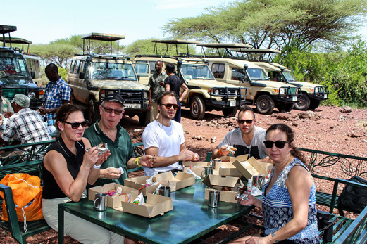 Lunch vid Lake Manyara