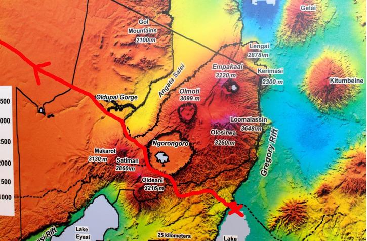 Färdvägen mot Serengeti