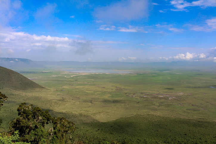 Utsikt in i Ngorongorokratern
