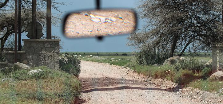 Entren till Serengetis nationalpark