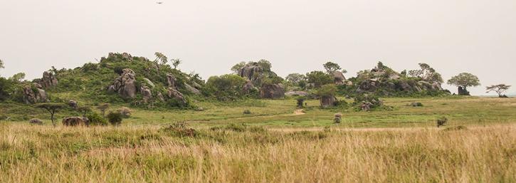 Klipporna är rester av vulkanutbrott