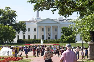 Vita huset från Pennsylvania Avenue