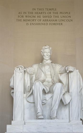 Abraham Lincolnstatyn i Lincoln Memorial