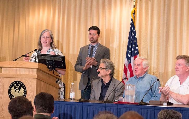 Brendan Burford ledde paneldiskussionen