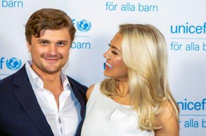 Isabella Löwengrip med pojkvännen Hampus Jarlbo