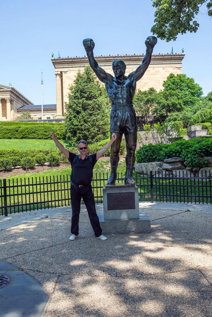 Jag vid Rocky Statue